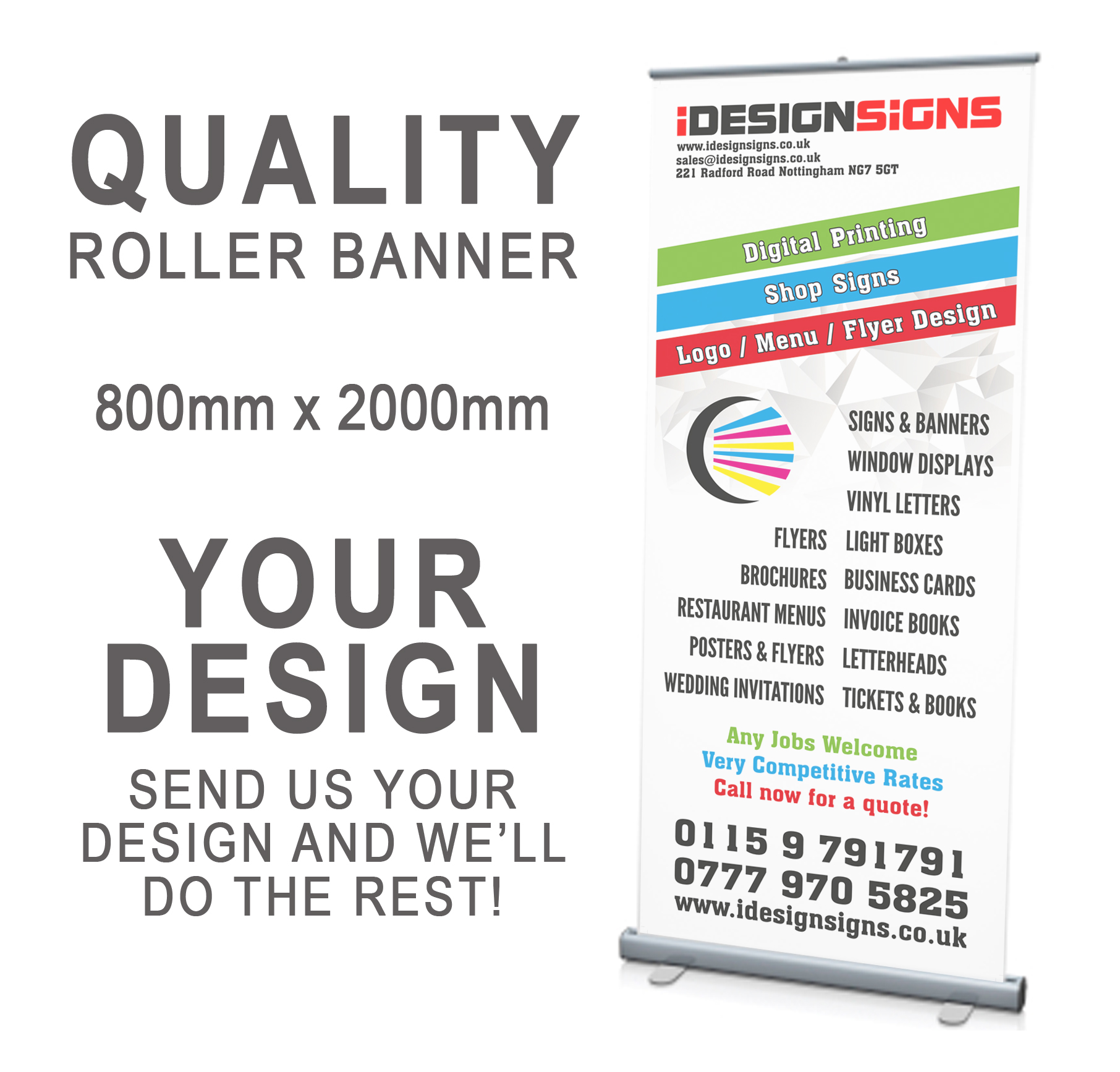 Roller banner pullrollpop up 800x2000mm your artwork roller banner pullrollpop up reheart Choice Image